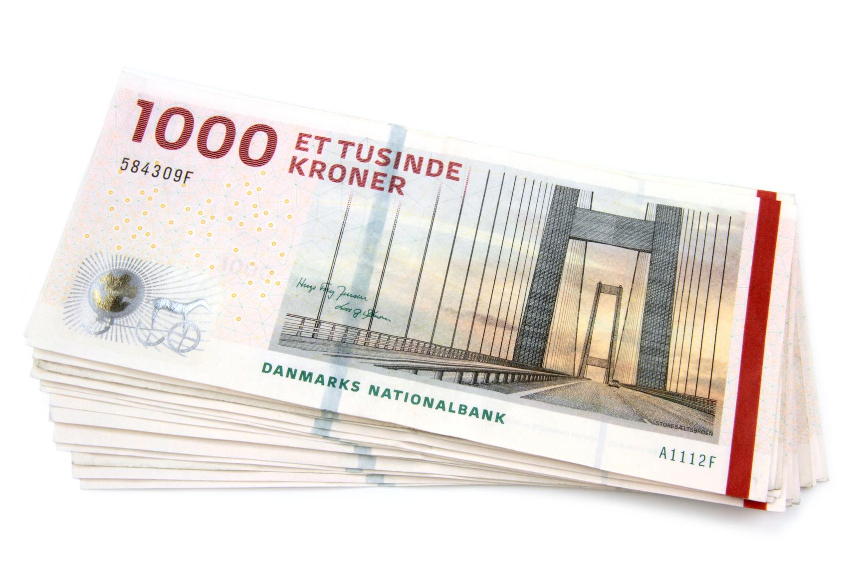 danske 1000kr's sedler